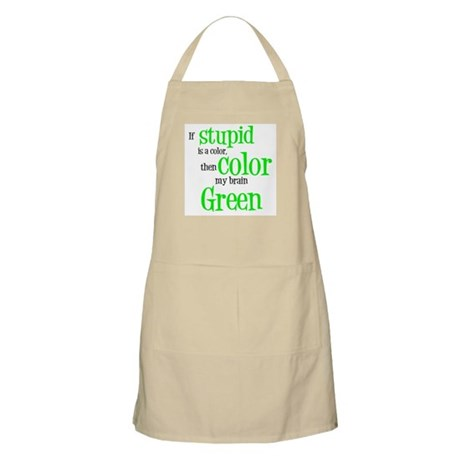 Color my stupid brain... BBQ Apron