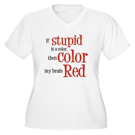 Color my stupid brain... Women's Plus Size V-Neck