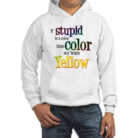 Color my stupid brain... Hooded Sweatshirt
