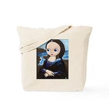Big Eyed Mona Lisa Tote Bag