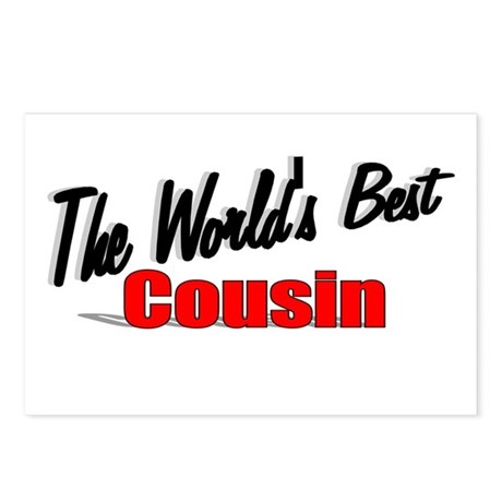 """The World's Best Cousin"" Postcards (Package of 8)"