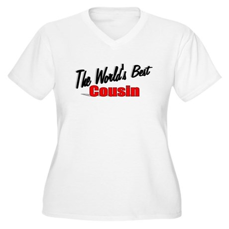 """The World's Best Cousin"" Women's Plus Size V-Neck"
