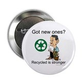 "Recycled rocks! 2.25"" Button"