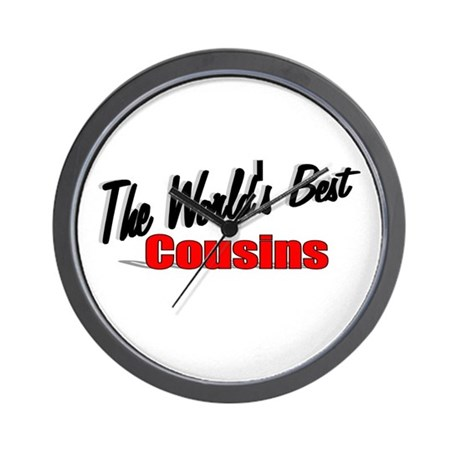"""The World's Best Cousins"" Wall Clock"