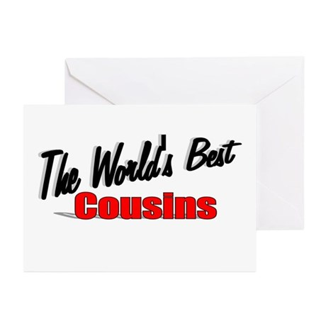 """The World's Best Cousins"" Greeting Cards (Pk of 2"