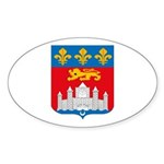 Bordeaux City Oval Sticker
