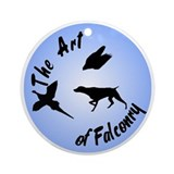 The Art of Falconry-GSP Ornament (Round)