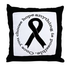 Black Hope Throw Pillow