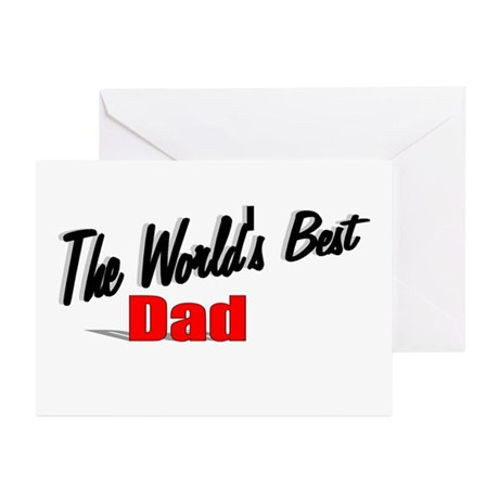 """The World's Best Dad"" Greeting Cards (Pk of 20)"