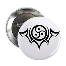 "Tribal BDSM Symbol 2.25"" Button"