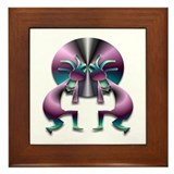 Two Kokopelli #43 Framed Tile