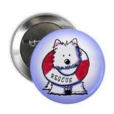 "Rescue Westie 2.25"" Button"