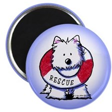 Rescue Westie Magnet