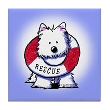 Rescue Westie Tile Coaster