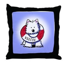 Rescue Westie Throw Pillow
