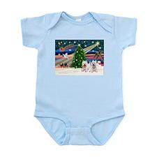 Xmas Magic & 2 Westies Infant Bodysuit