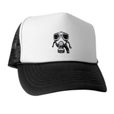 gas mask Trucker Hat