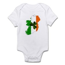 Map of Ireland w/Shamrock Infant Creeper