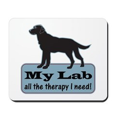 Black Lab Therapy - Mousepad