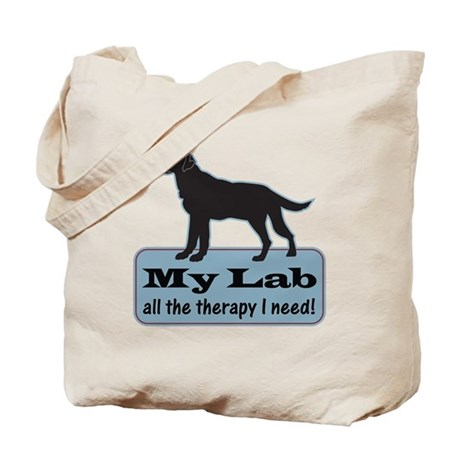 Black Lab Therapy - Tote Bag
