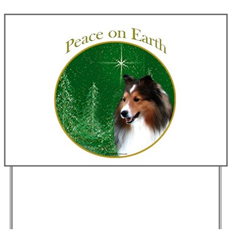 Sable Sheltie Peace Yard Sign