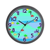 Fishy Fish Wall Clock
