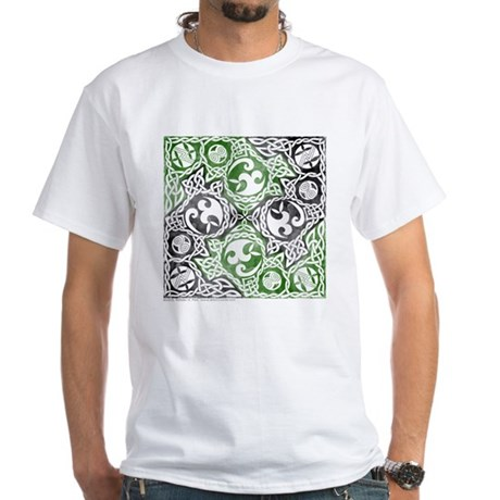 Celtic Puzzle Square White T-Shirt