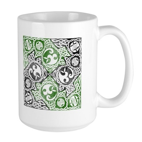 Celtic Puzzle Square Large Mug