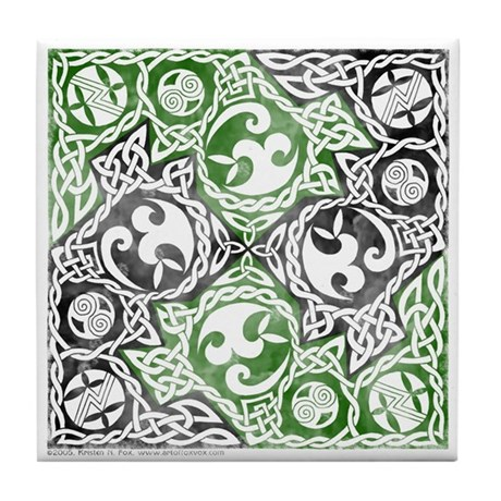 Celtic Puzzle Square Tile Coaster