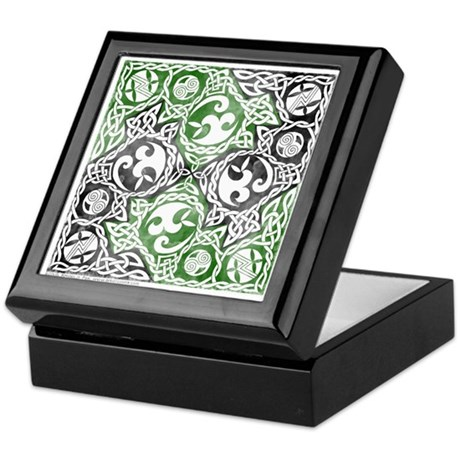 Celtic Puzzle Square Keepsake Box
