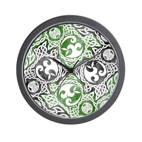 Celtic Puzzle Square Wall Clock