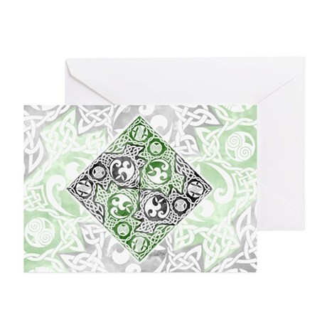 Celtic Puzzle Square Greeting Cards (Pk of 10)