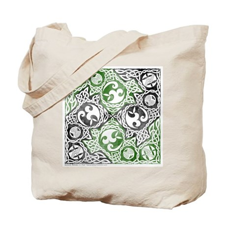 Celtic Puzzle Square Tote Bag