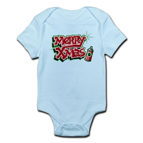 Merry Christmas Graffiti Infant Bodysuit