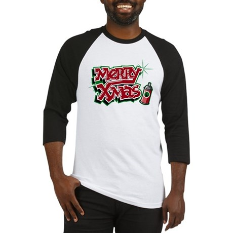 Merry Christmas Graffiti Baseball Jersey