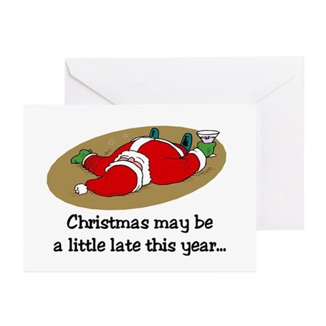 Christmas may be late Greeting Cards (Pk of 10)