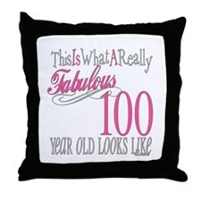 100th Birthday Gift Throw Pillow
