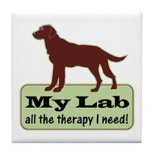 Chocolate Lab Therapy -  Tile Coaster