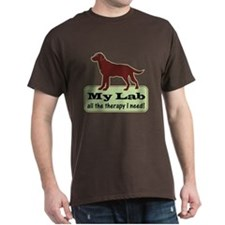 Chocolate Lab Therapy - T-Shirt