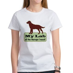 Chocolate Lab Therapy - Women's T-Shirt