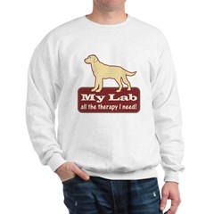 Yellow Lab Therapy - Sweatshirt