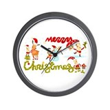 Christmas Elves Wall Clock