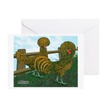 Golden Polish Chickens Greeting Cards (Pk of 20)