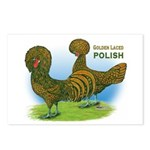 Golden Polish Fowl Postcards (Package of 8)