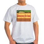 DEMOCRACY FOR IOWA Ash Grey T-Shirt