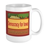 DEMOCRACY FOR IOWA Large Mug