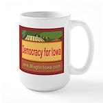 DEMOCRACY FOR IOWA Large Mug