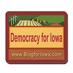 DEMOCRACY FOR IOWA Mousepad