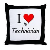 I Love My Technician Throw Pillow