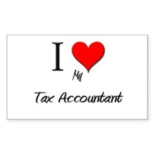 I Love My Tax Accountant Rectangle Decal